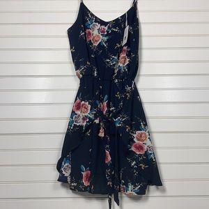 Grace Karin Front Tie Floral Dress Size Medium